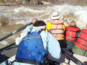 Whitewater rafting the Colorado River in Grand Canyon National Park AZ.