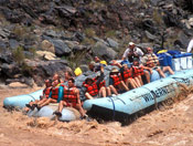 Motor-Powered river rafting down the Colorado River in Grand Canyon in AZ.