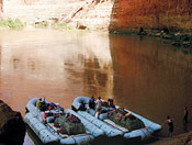 Rafting adventures on the Colorado River in Grand Canyon National Park AZ.